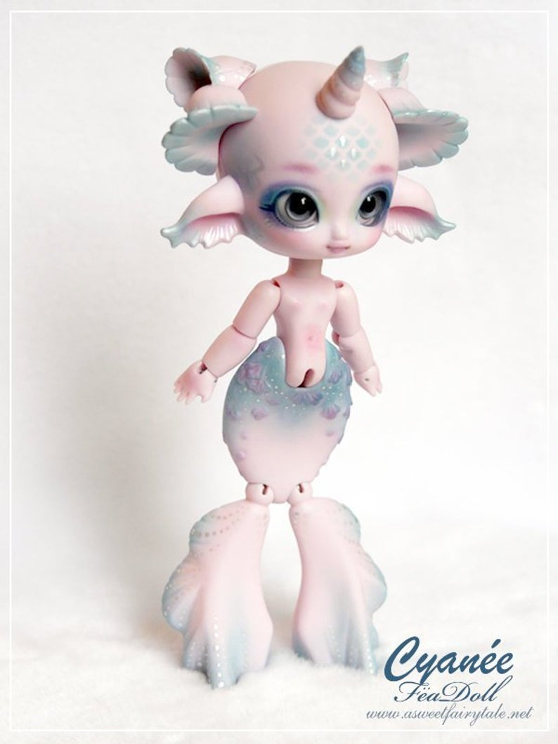 Resin 1//12 BJD SD Little birds free eyes White Skin without any make up