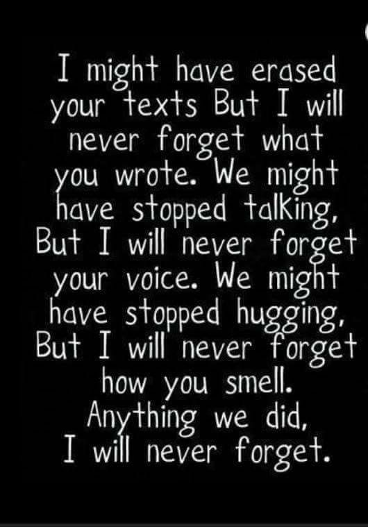 I Will Never Forget You Ever Poems And Sayings Pinterest