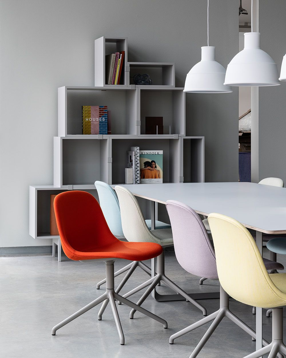 Modern And Vibrant Office Space Decor Inspiration From Muuto The Fiber Side Chair Brings A New P In 2020 Office Chair Design Side Chairs Scandinavian Furniture Design