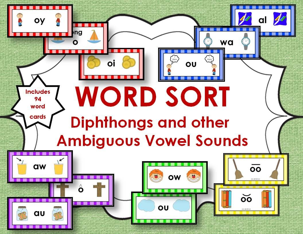 Word Sort Diphthongs And Other Ambiguous Vowel Sounds