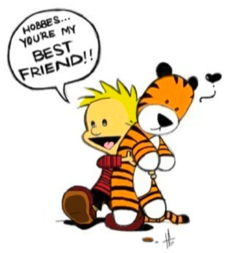 Calvin and Hobbes bff--Colored by Elphabla.deviantart.com on ...