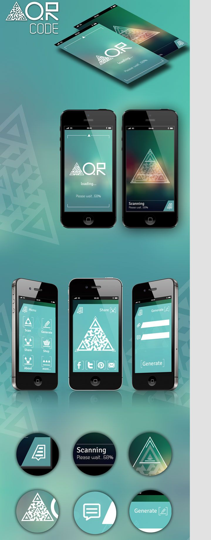 Triangle QRcode | App Make some easy money with this FREE web app --> http://bitcoinfaucetbonanza.com/ <-- Get Rich!