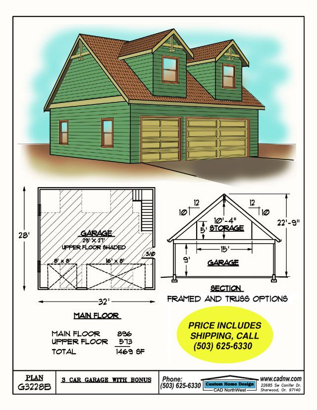 G3228b Garage Plan Details Roofing Steel Roofing Corrugated Roofing