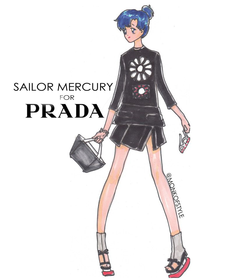 Sailor Moon, Betty Boop, Jem and more take on the Spring 2013 collections in Jerome LaMaar's amazing illustrations « fashionmagazine.com