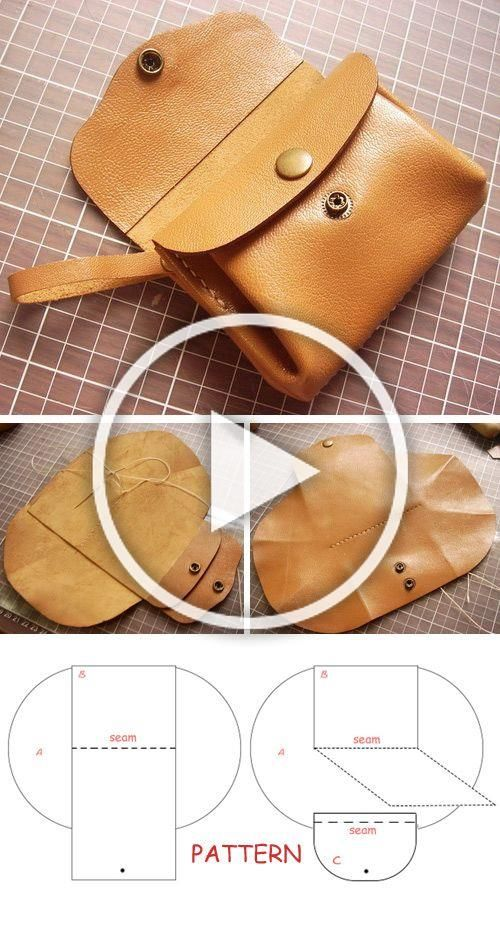 How to DIY Leather Accordion Wallet  Step by step illustration tutorial