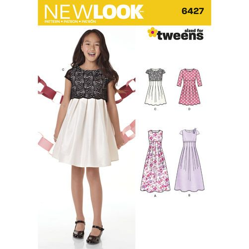 New Look Sewing Pattern 6427 Girls Dress in Two Lengths