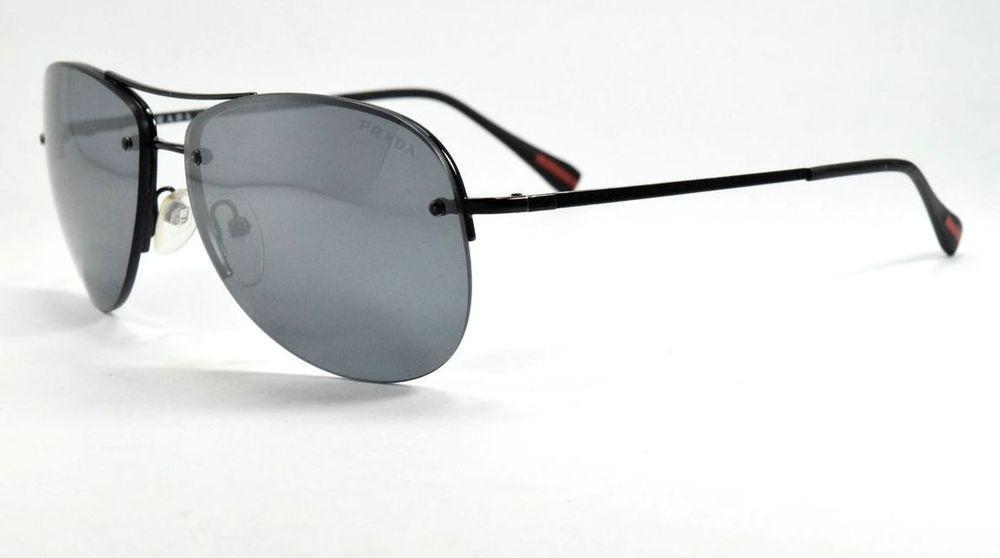 eeee658fea PRADA SUNGLASSES SPORT SPS 50R 7AX-5L0 BLACK GRAY MIRROR LENSES  fashion