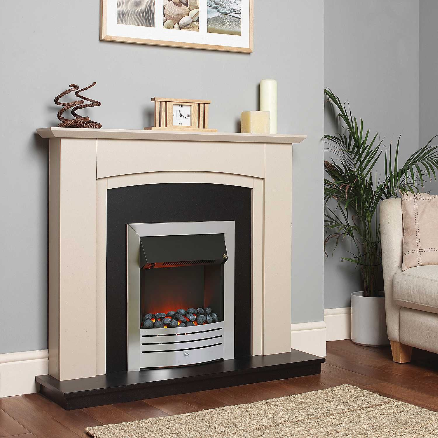 Derwent sandstone electric fire suite by katell pinterest