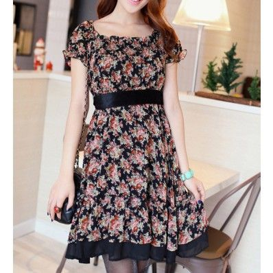 Short Sleeve Black Lace Dress | Short Sleeve Black Dress @ Dresses ...