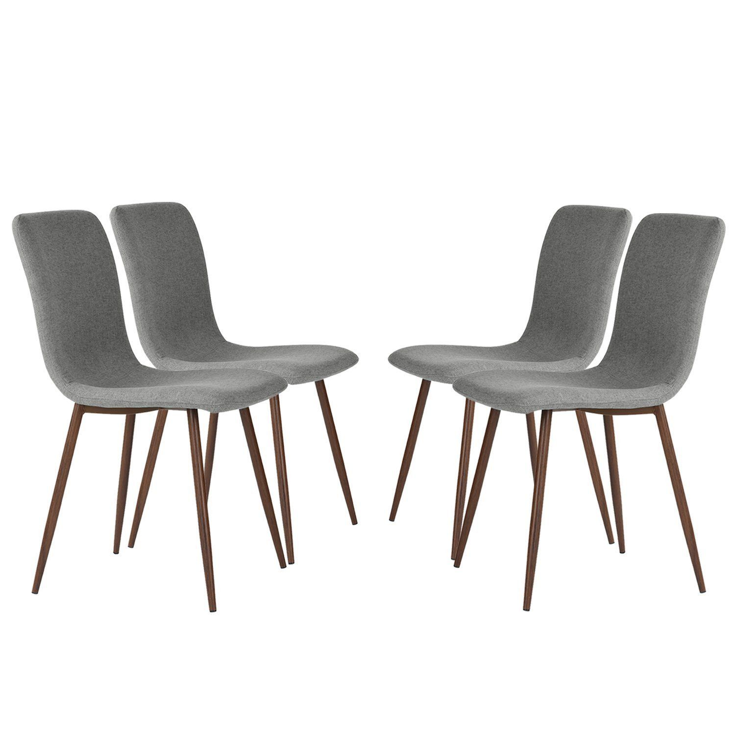 Set of 4 Eames Dining Chairs Coavas Fabric Cushion Kitchen Chairs