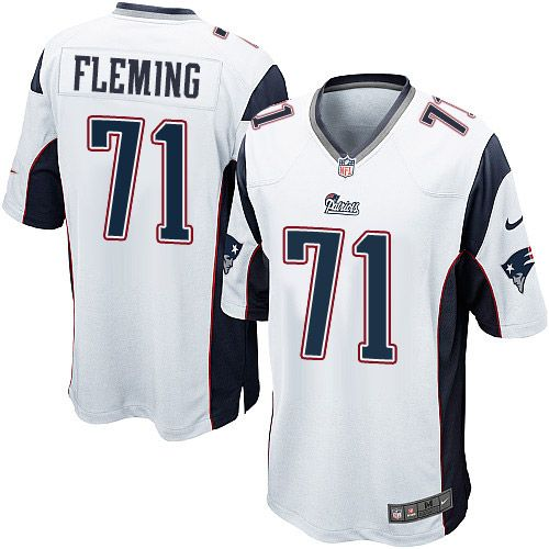 Youth Nike New England Patriots #71 Cameron Fleming Game White NFL Jersey
