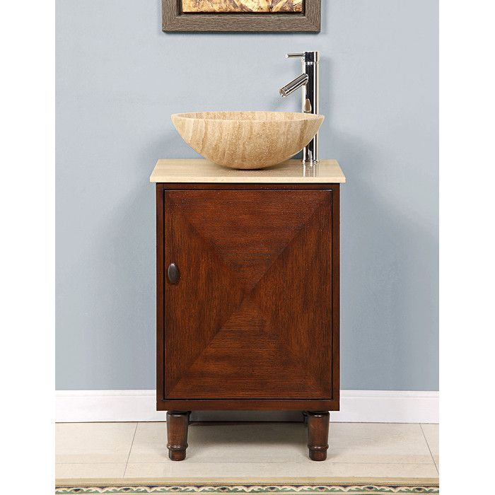 "Silkroad Exclusive Chloe 20"" Single Bathroom Vanity Set & Reviews Enchanting Bathroom Cabinet Reviews Decorating Inspiration"