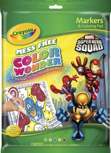 crayola color wonder superhero squad coloring pad markers by crayola 951 18 pages included - Color Wonder Books