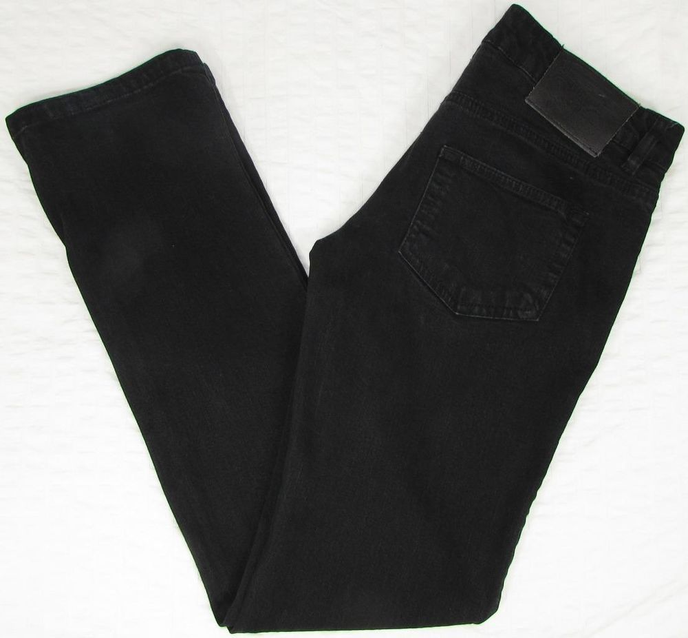 f804bc4d Women Zara TRF Denim Rules Jeans Black Low Rise Straight Leg sz 8 X 34 EUC