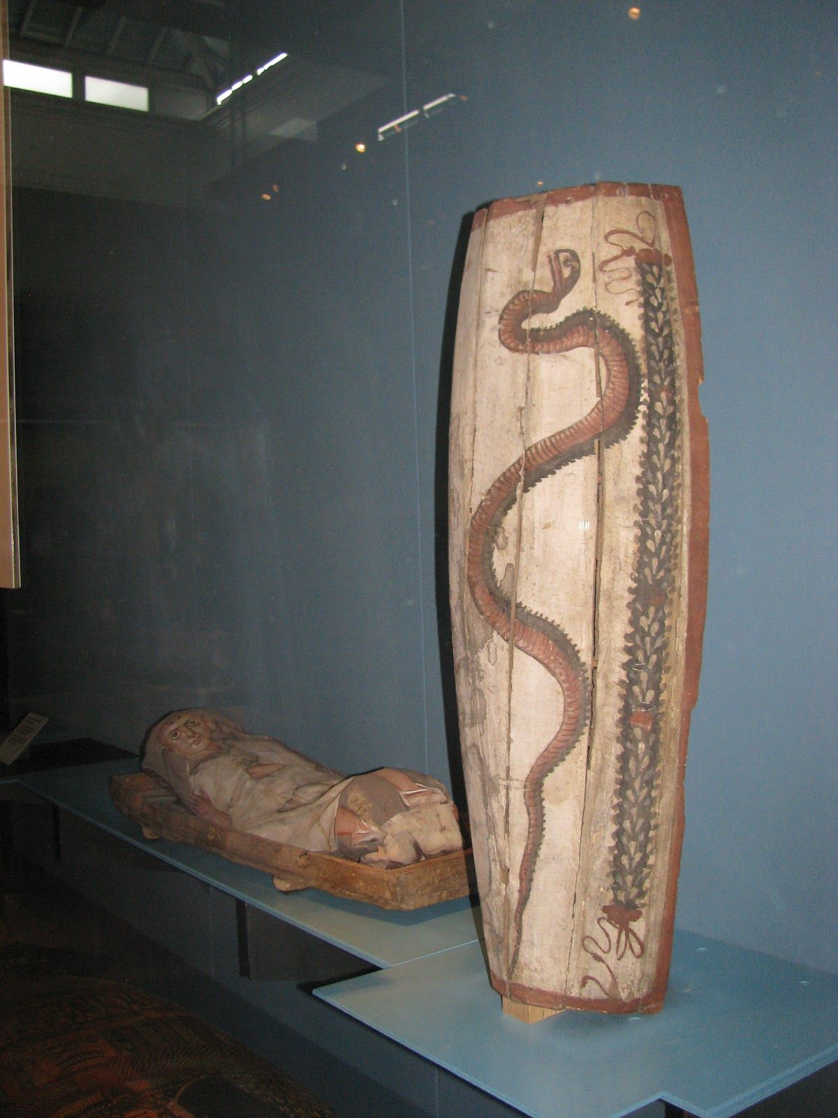 This Roman Era Egyptian Childs Coffin The Snakes Is A Symbol Of