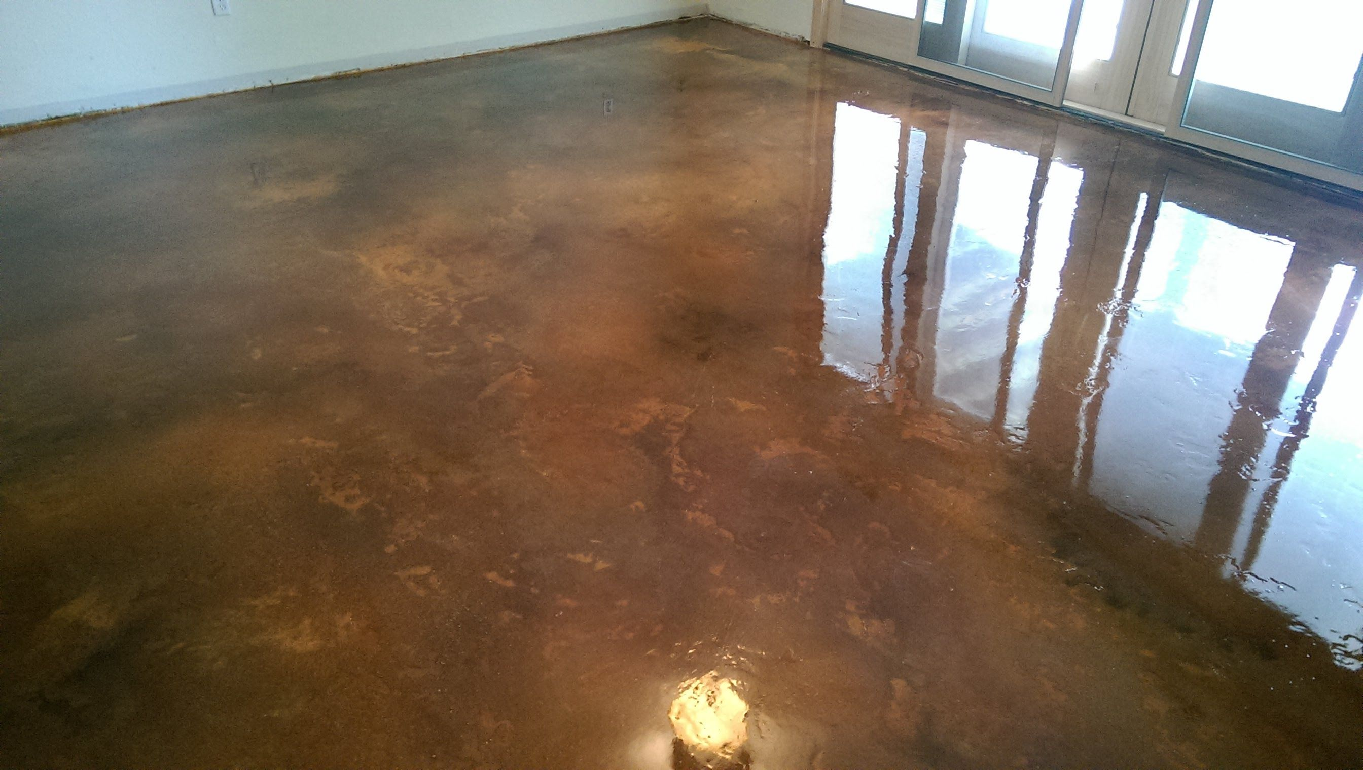 acid stain concrete basement floor w epoxy seal coat lake of th rh pinterest at  epoxy floor in basement