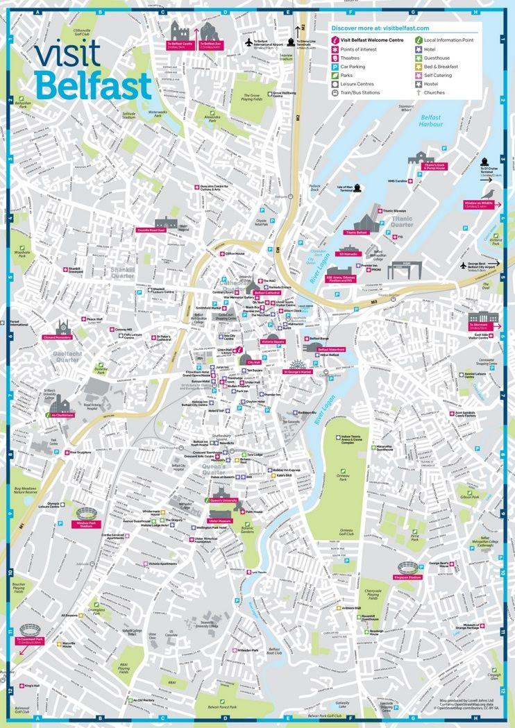 Belfast sightseeing map Maps Pinterest Belfast and City