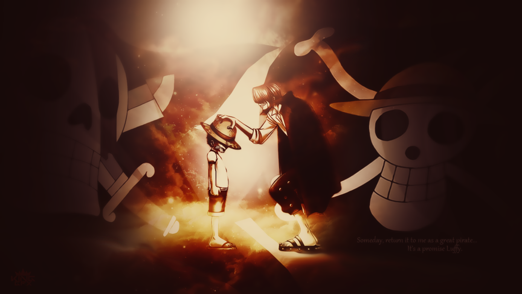 Shanks And Luffy Desktop Wallpaper One Piece By Whu Dan On