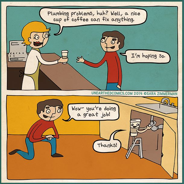 Coffee Cartoons And Coffee Comics About How A Cup Of