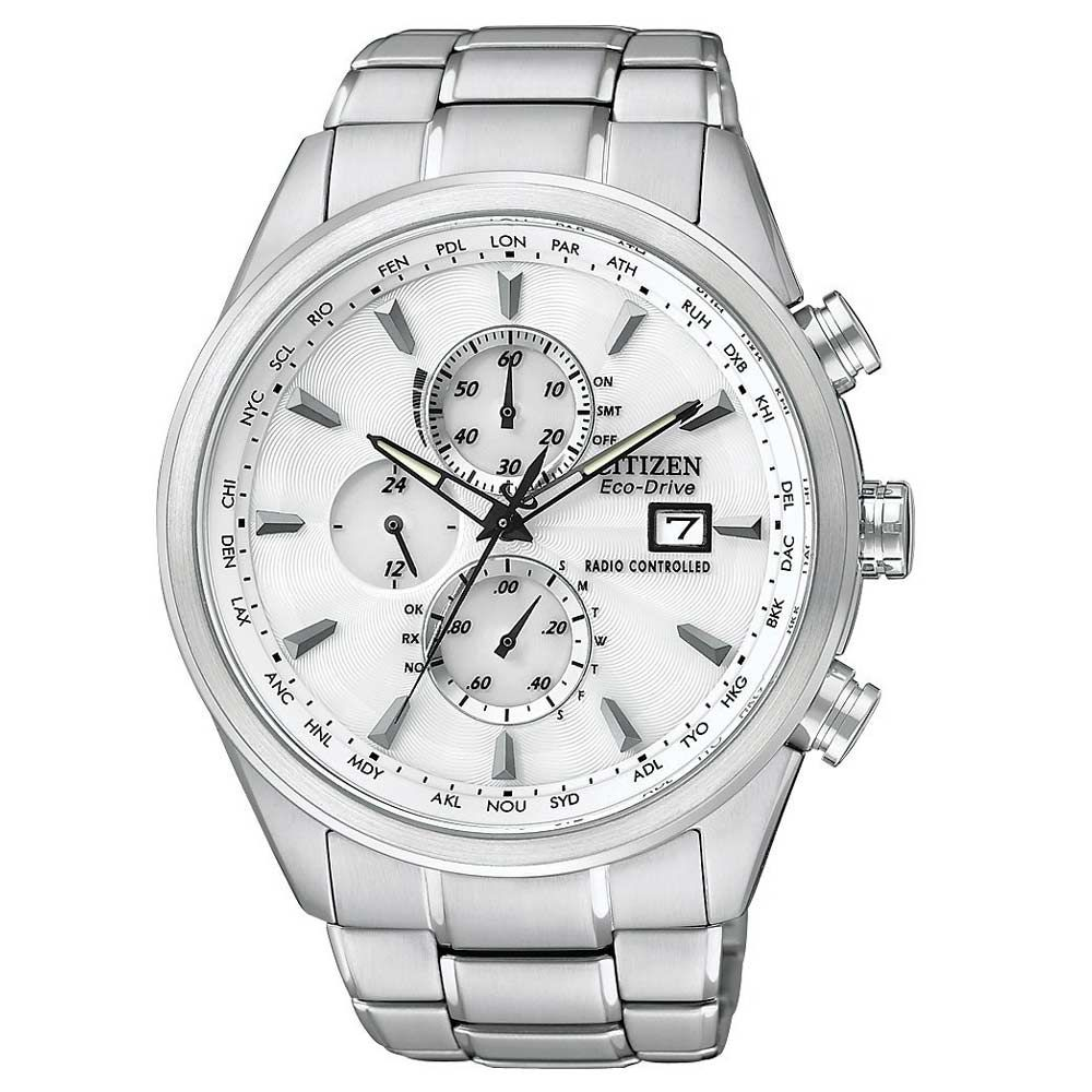 Citizen AT8010-58B Men's World Chronograph A-T White Dial ...