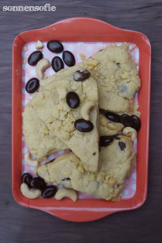 Kaffeepause mit Schoko Mokka Cashewkern Biskuits