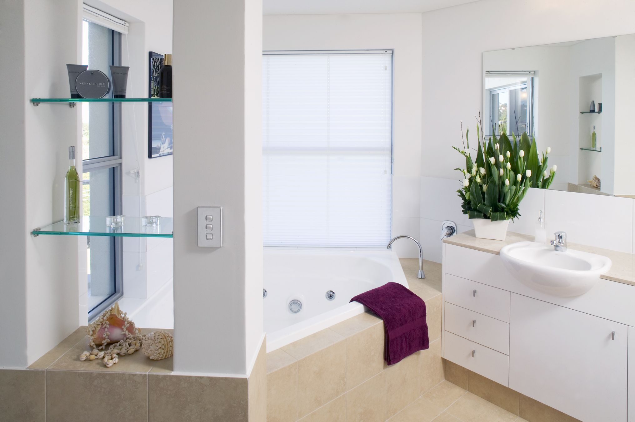 Clean and bright bathroom design. be inspired @ www.weststyle.com.au ...
