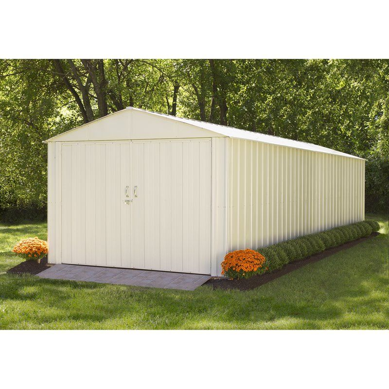 Commander 10 Ft W X 25 Ft D Metal Storage Shed Steel Storage Sheds Steel Storage Buildings Metal Storage Sheds
