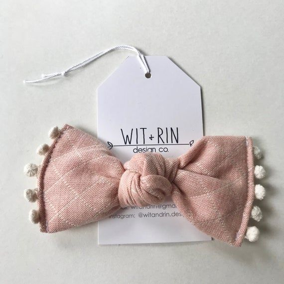 Large Bow Clip // Quilted Rose with Dingle Berries (knotted)