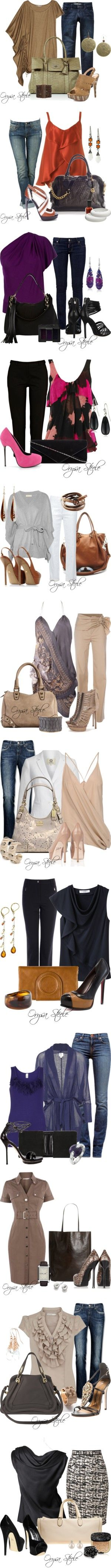 some cute outfits--though I'd prefer the heels a little less sky-high. :)