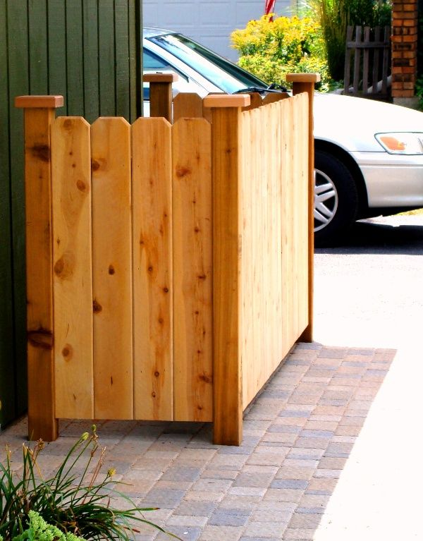 Outdoor Trash Can With Wheels Custom Garbage Can Storage  House Decks  Pinterest  Storage Yards And Decorating Inspiration
