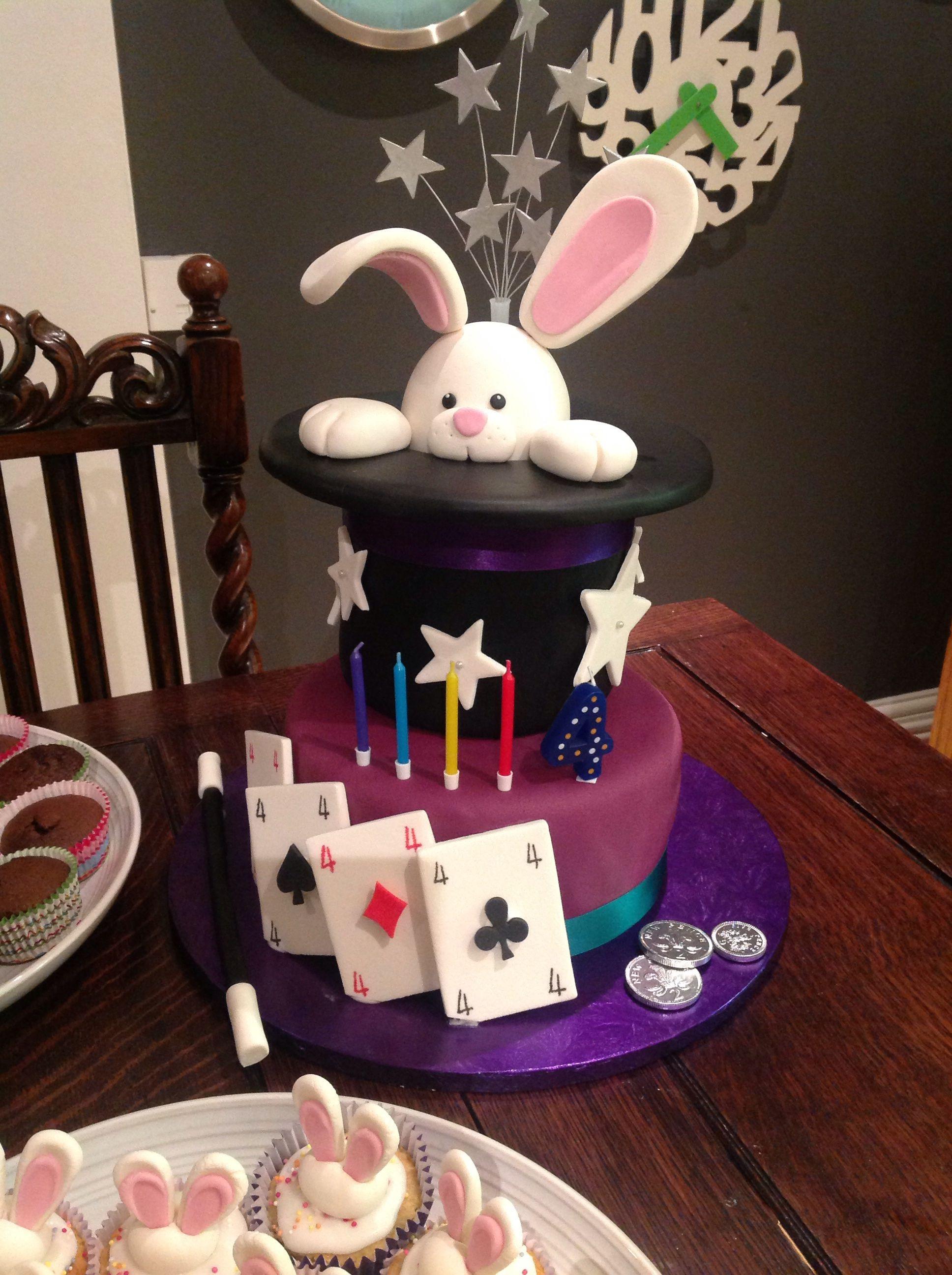 Peachy Samuels 4Th Magic Birthday Cake Magic Birthday Magician Funny Birthday Cards Online Kookostrdamsfinfo