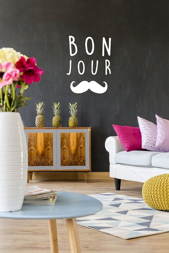 Bonjour Wall Decals, Wall Stickers, Typography Stickers, Bonjour Sticker, Bonjour Decal, Nursery Decal, Typography Decals, Nursery Decor #xooonledesignenfinaccessible