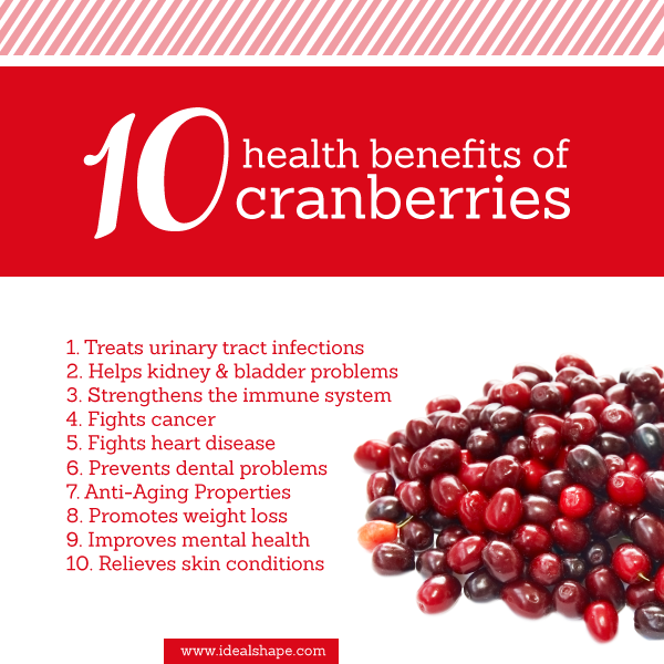 what are the health benefits of cranberry pills