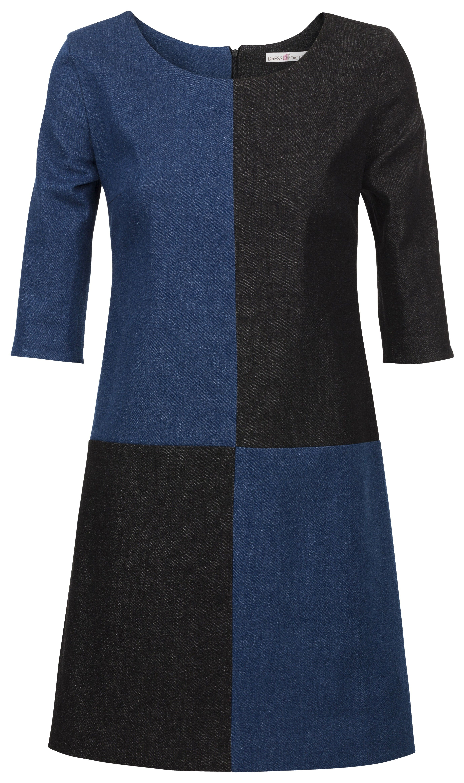 Is de jurk blauw zwart