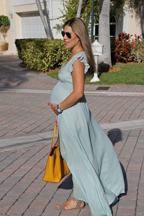 This maternity viscose dress is fabulous. You can wear it before ...