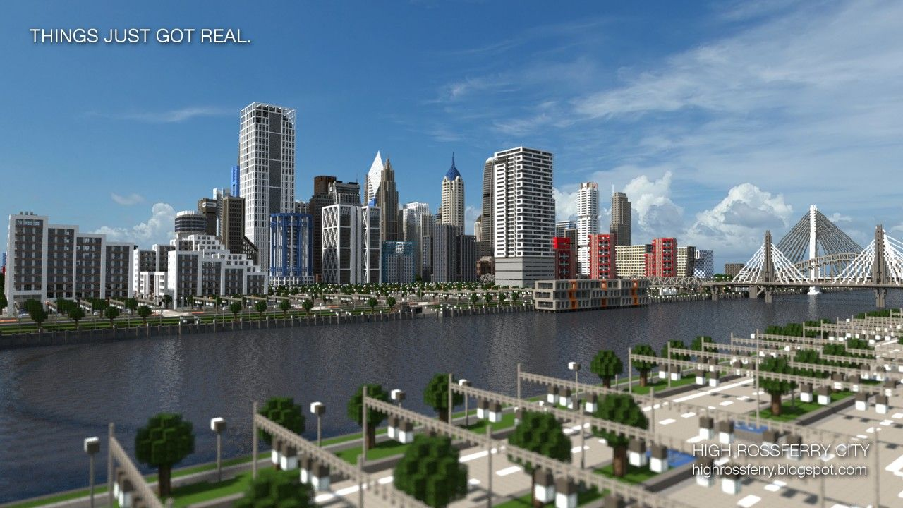 Realistic minecraft high rossferry city a realistic for Minecraft modern