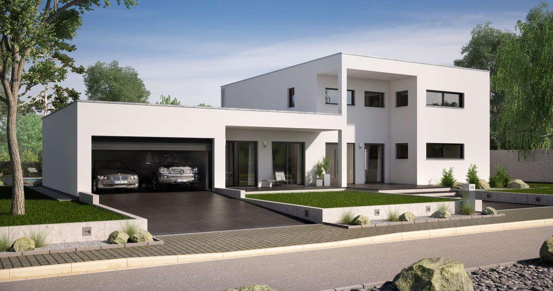 Massivhaus Kern-Haus Bauhaus Ixeo Eingangsseite Häuser - Haus Modern
