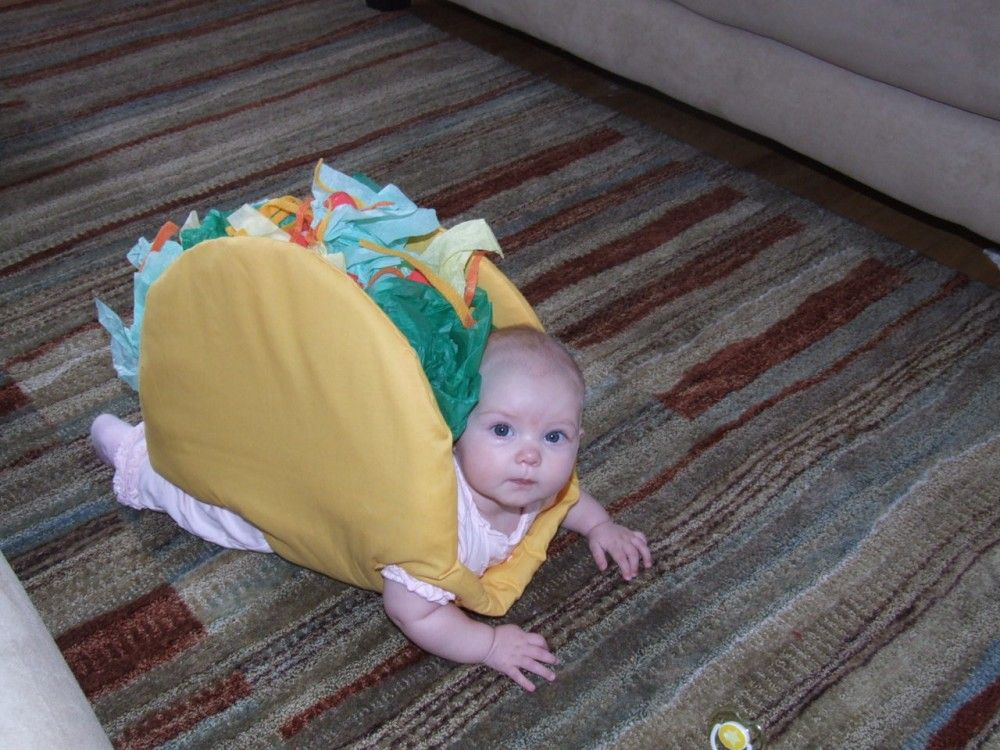 This is a baby dressed as a taco - Imgur
