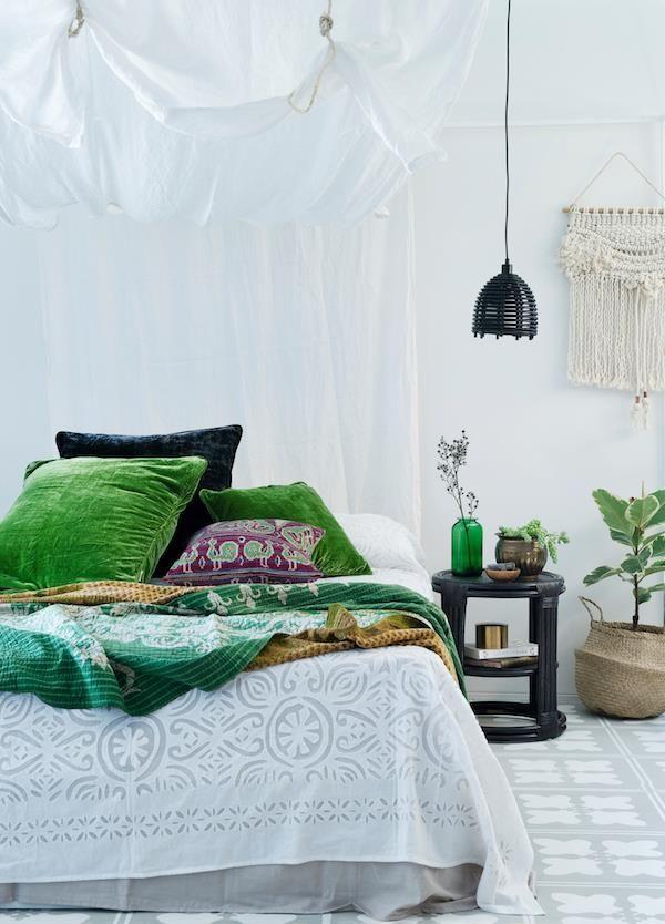 die besten 25 bett kissen ideen auf pinterest. Black Bedroom Furniture Sets. Home Design Ideas