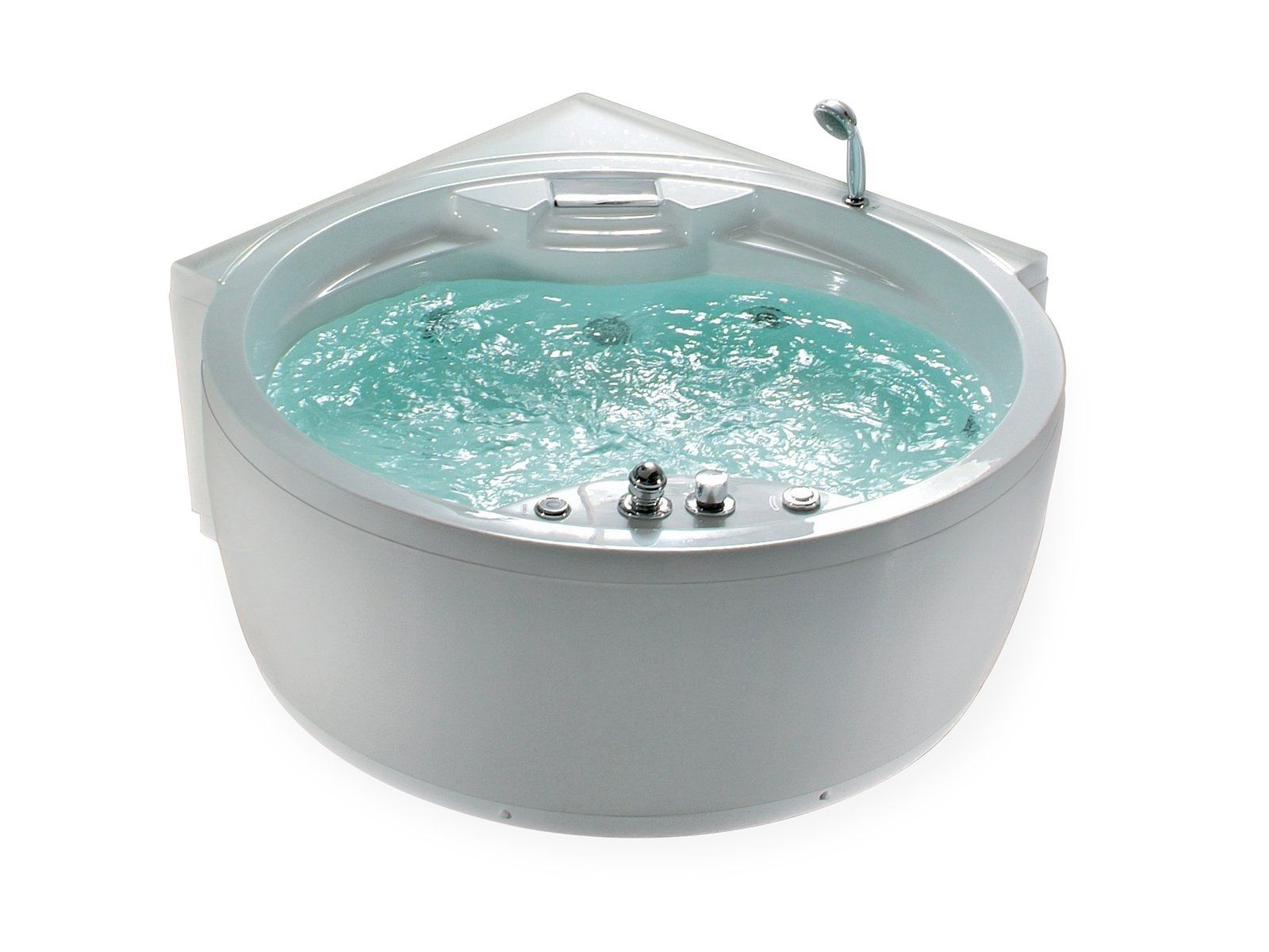 Bain A Remous Rond Milano Ii Jacuzzi Bath Underwater Led Lights Bathtub
