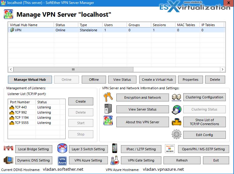 Cool Free VPN Server Software SoftEther VPN | software make