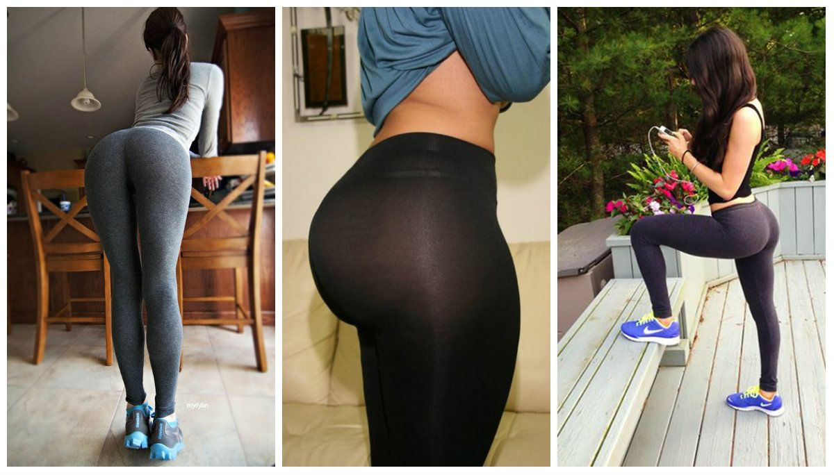 bubble butt in yoga pants