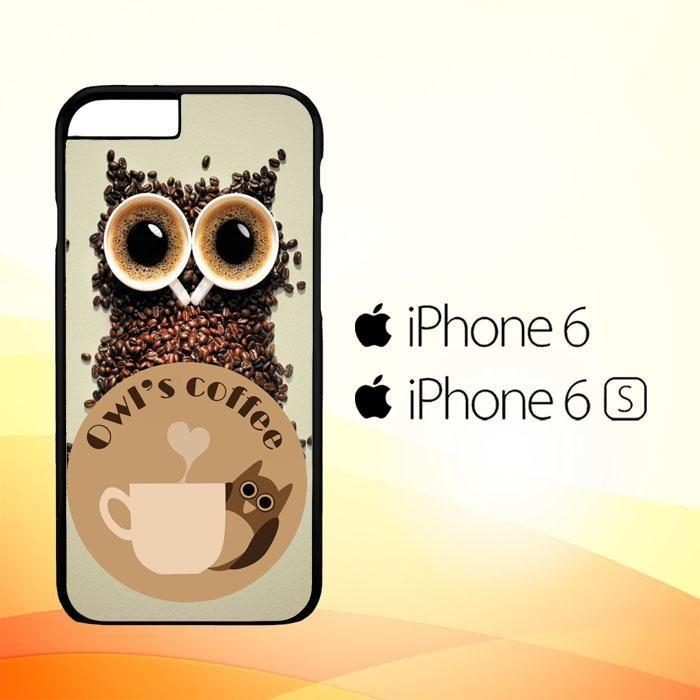 coffee owl wallpaper X3002 iPhone 6   6S Case   Iphone 7 ...
