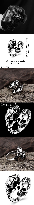 Skull Ring Men Rings Rock Punk Skull Rings for Men Party Jewelry ...