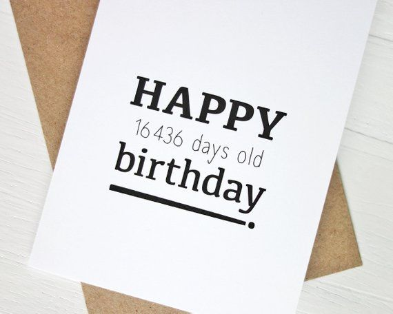 45th Birthday Card Funny Happy 16436 Days For 45 Year Old
