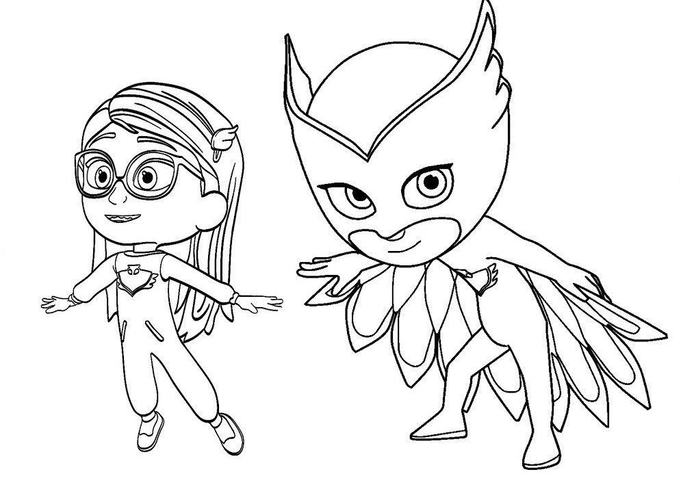 Owlette pj masks coloring page