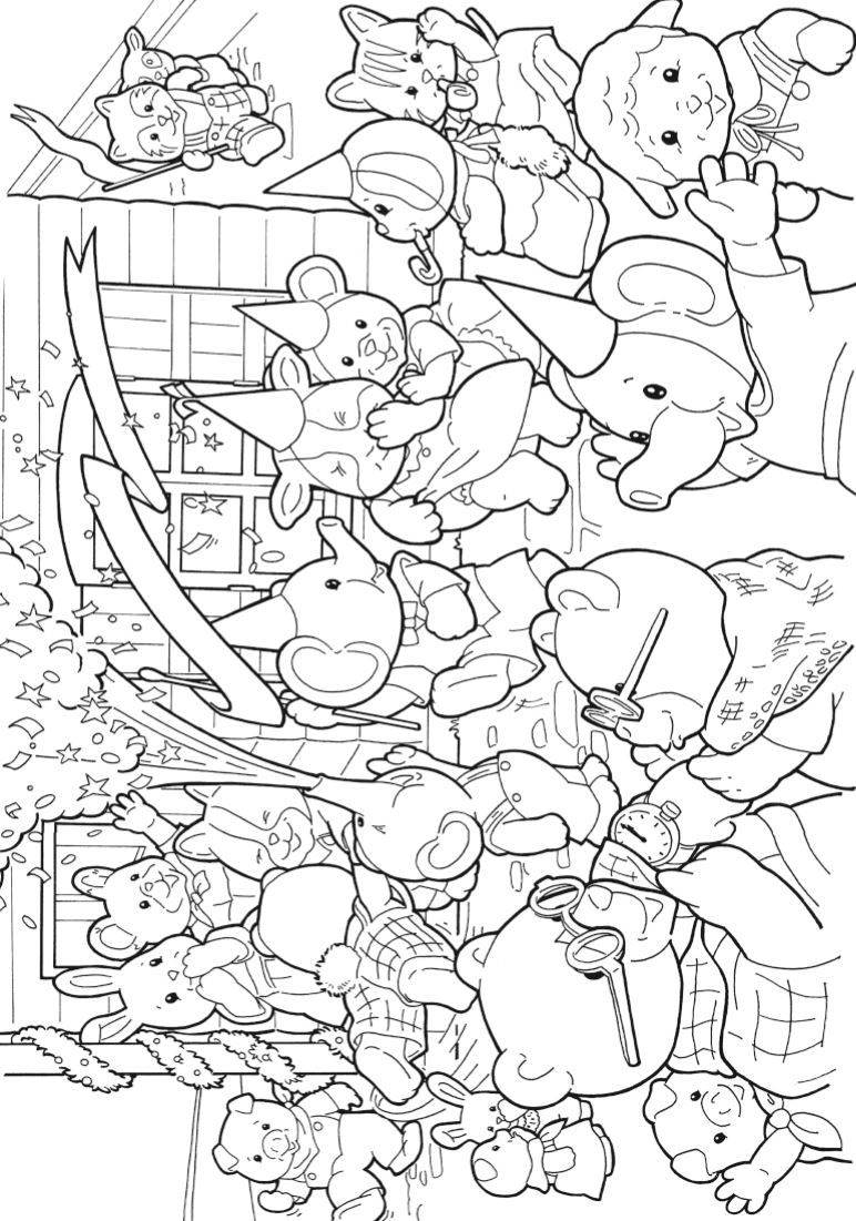 Coloring Page Calico Critters Sylvanian Families On Kids N Fun Co Uk Op Kids N Fun Vind Je Altijd Fish Coloring Page Rainbow Fish Coloring Page Coloring Pages