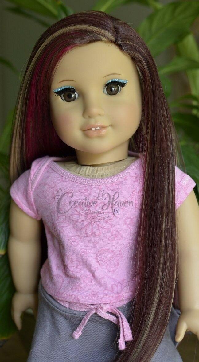 American Girl Custom DIY Pnk/Slvr Eyeliner Makeup Marie