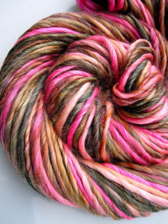 lovebirds bulky merino/tencel luxury handspun yarn