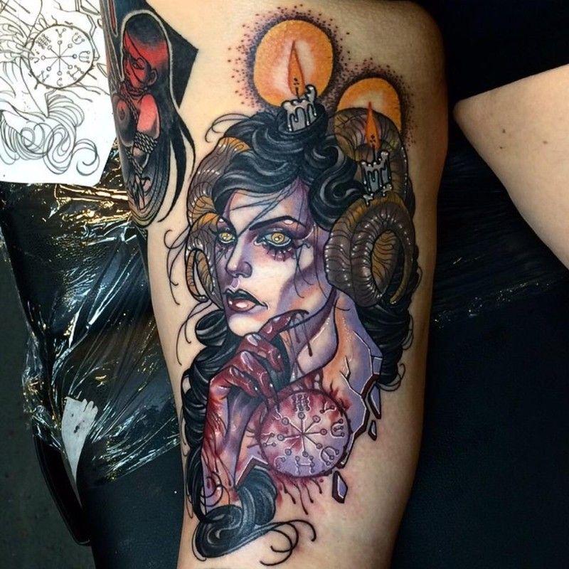 Kat Abdy Amazing Neo Traditional Tattoo Artist Cloak